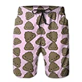 WowMyGod Short de Plage pour Homme Men's Dry Swim Trunks Super Cute Poop Pattern Beach Board Shorts for Outside Home with Pockets