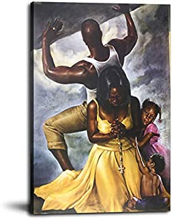 Sponsored Ad - Bedroom Home Office Decor Behind Every Strong Man is A Strong Woman Oil Paintings Pictures Artwork for Livi...