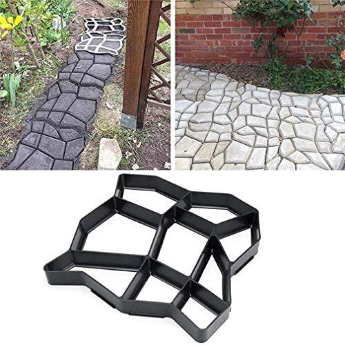 DIY Molde de pavimento, molde para hacer caminos, reutilizable, diseño de cemento...
