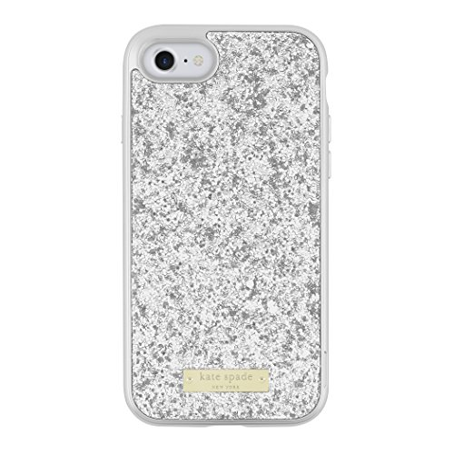 kate spade new york Glitter Case with Bumper for iPhone 7 - Exposed Glitter Silver/Silver