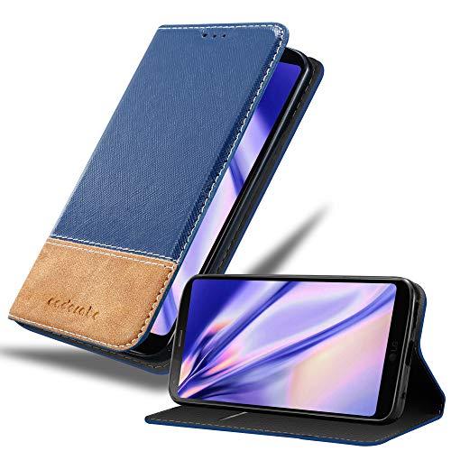 Cadorabo Hülle für LG G6 in DUNKEL BLAU BRAUN – Handyhülle mit Magnetverschluss, Standfunktion & Kartenfach – Hülle Cover Schutzhülle Etui Tasche Book Klapp Style