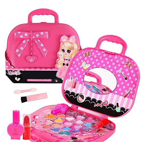 Anself Kit de Maquillaje para Niñas, Maquillaje de Princesa Cosmética Multicolores Niña,Estuche...