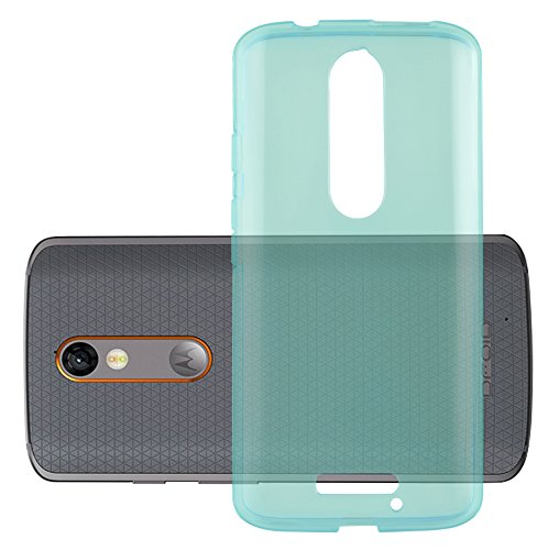 Cadorabo Hülle für Motorola Moto X Force - Hülle in TRANSPARENT BLAU – Handyhülle aus TPU Silikon im Ultra Slim 'AIR' Design - Silikonhülle Schutzhülle Soft Back Cover Case Bumper