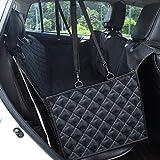 GHB - Funda para asiento de coche para mascotas, impermeable, con cinturón de seguridad para perro para coche (actualización)