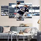 Wuwenw Top-Rated Canvas Print Sport Rugby Players Poster Framework For Modern Picture Home Wall Art Decorative Bedroom Living Room,8 X 14/18/22Inch,With Frame