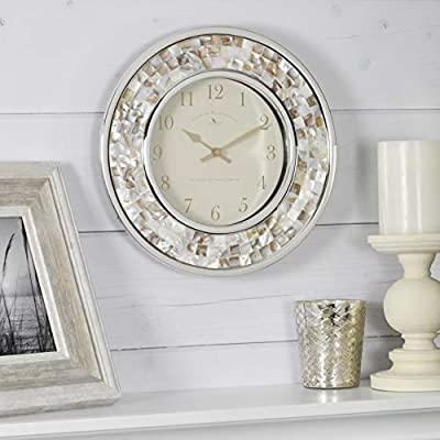 FirsTime & Co. Pearl Mosaic Wall Clock