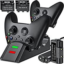 ESYWEN Upgraded Controller Charger for Xbox one, Controller Charging Station Compatible with Xbox One/One S/One X/One Elite, Charger for Xbox One Controller Battery Pack with 2 x 1200mAh Battery Packs