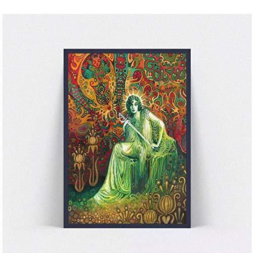Lefgnmyi Emily Balivet imagen de arte grande lienzo impreso pintura cartel de arte moderno cartel de arte de pared para decoración de sala de estar -20x32 en sin marco