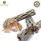 SunGrow 3 Hermit Crab Woods, Chew Toy and Source of Nutrition, Fun and...