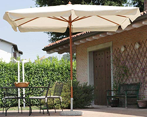 vorghini Ombrellone da Giardino in Legno 3X2m Classic Ecrù