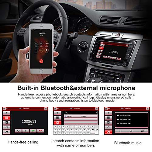 Stereo Home 7 pouces Autoradio GPS Navigateur pour Voiture pour VW, unité de tête stéréo Voiture 2 Din avec Lecteur de CD/DVD, USB SD, 720P Video,FM AM RDS, SWC Canbus,Wince Système Bluetooth 8G Carte