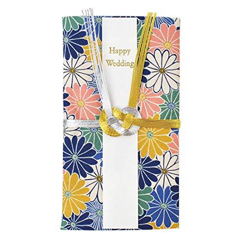 ご祝儀袋 結婚祝い ハンカチ 短冊 中袋付き かわいい コットン 綿100% 日本製 花柄 フラワー 和柄 和風 レトロ モダン おしゃれ happy wedding