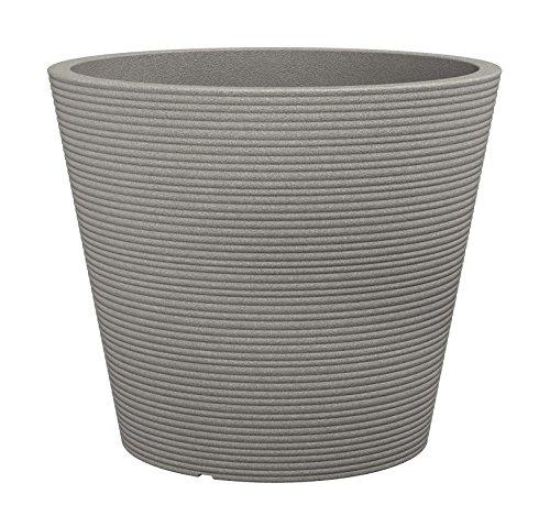 Scheurich Coneo, Pflanzgefäß aus Kunststoff, Taupe-Granit, 40 cm Durchmesser, 33,2 cm hoch, 26 l Vol.