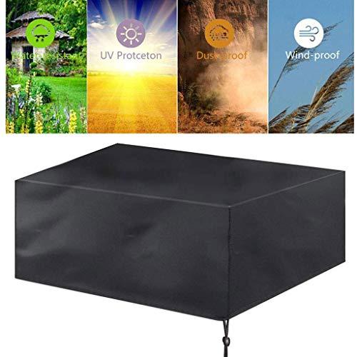 Juego de cubierta para muebles de jardín, tela Oxford 420D, impermeable, para mesas de terraza y sillas al aire libre, antimanchas, funda protectora para muebles moderno 123x123x74cm color