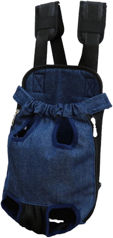 Pet Travel Bag Dog Bag Cat Bag Portable Adjustable Pet Backpack Dark bluee (Size   Xl)