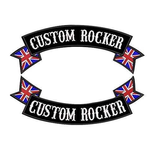 Parche de bordado personalizado con nombre de rockero, identificativo