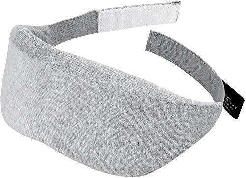 QAZXCV Ultraweiche Samt Schlaf Augenabdeckung, Dicker Lichtblocking Memory Foam, Einstellbarer Gurt und Magic Hook und Loop Design atmen-leicht für Schlafenszeit & Reisen