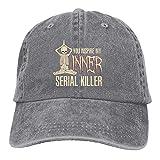Jopath You Inspire My Inner Serial Killer-Funny - Gorro de béisbol unisex para yoga, diseño de esqueleto deportivo