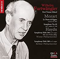 Music of the First Vienna School by Wilhelm Furtwangler