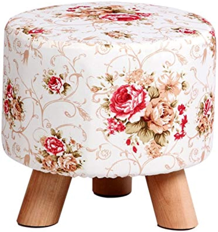 YJLGRYF Pastoral Style Floral Design Foot Stool Footstool Sofa Tea Stool (color   C)
