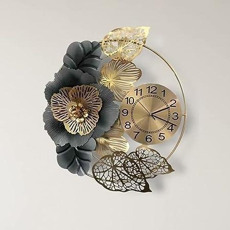 GULLI BULLI Stylish Iron Wall Clock for Living, Bed Room, Home Decor Art and Hanging Decorative Showpiece (24X24 Inch)