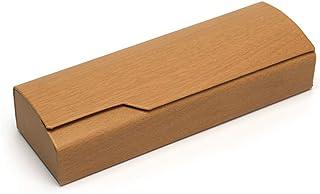 Kentop brillenkoker in houtlook voor zonnebril
