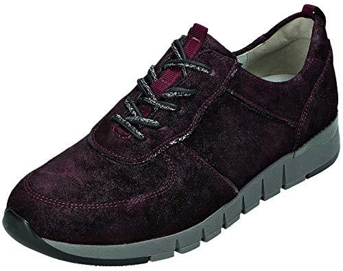 Waldläufer 908003 500 053 - Zapatos con Cordones para Mujer (Extra Anchos), Color Rojo, Talla 36 EU Weit