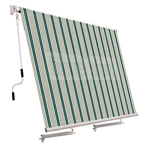 Tenda da Sole a Caduta 300x250cm Bracci Regolabili Tessuto Impermeabile Esterno