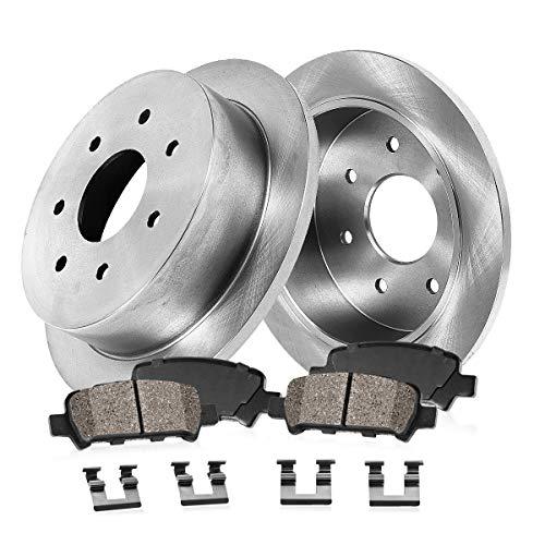 [ RWD ] REAR 334 mm Premium OE 7 Lug [2] Brake Disc Rotors + [4] Ceramic Brake...