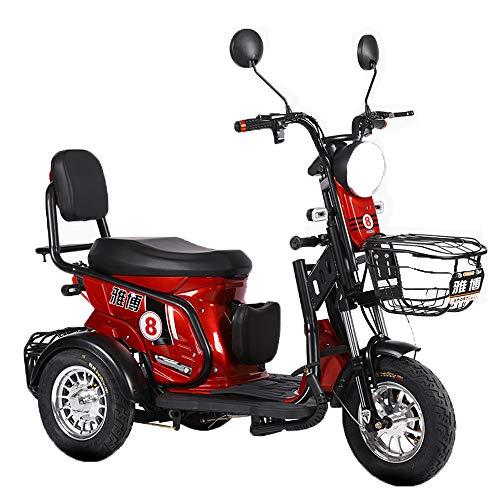 WMMY Dreirad ElektroRoller E-Scooter Elektromobil 25 km/h 600W, Elektroroller, Senioren Elektromobil, 3 Rad Seniorenfahrzeug Seniorenmobil