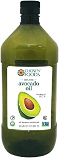 Chosen Foods 100% Pure Avocado Oil 2 L in BPA Free Food Grade Plastic Bottle, Non-GMO, for High-Heat Cooking, Frying, Baking, Homemade Sauces, Dressings and Marinades
