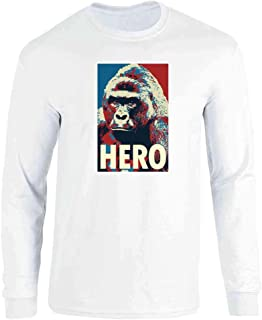 Harambe Pop Art Hero Meme Quote Political Clothing Full Long Sleeve Tee T-Shirt