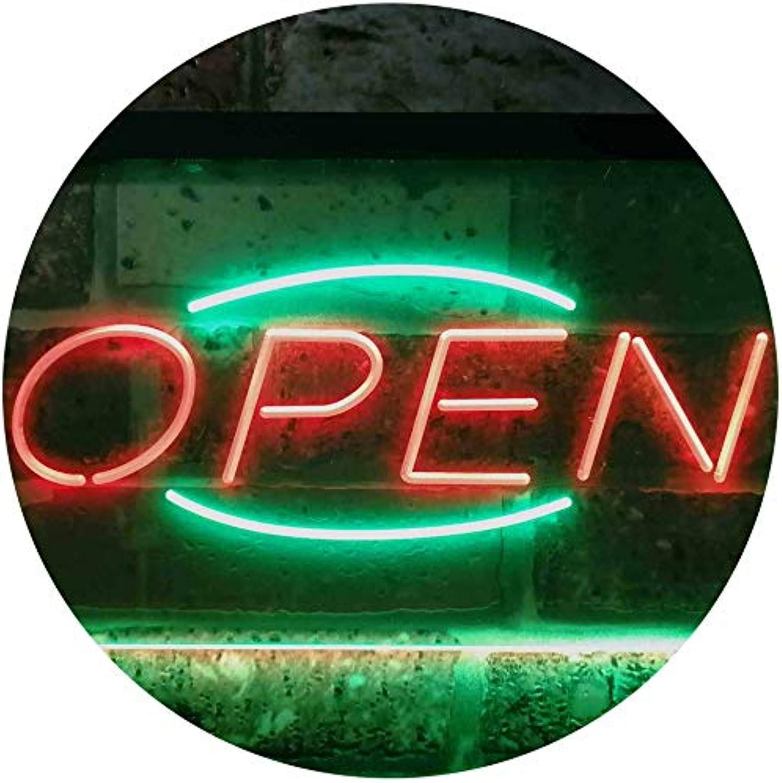 ADVPRO Open Business Shop Café Wall Décor Dual Farbe LED Barlicht Neonlicht Lichtwerbung Neon Sign Grün & rot 400mm x 300mm st6s43-i2097-gr