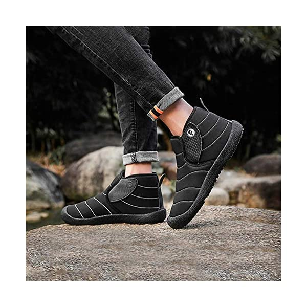 Govicta Men's Winter Snow Boots Womens Ankle Snow Booties Anti-Slip Soft Sole Warm Fur Lined Winter Ankle Booties Non-Slip Trekking Warm Waterproof Boots for Outdoor