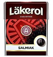 Cloetta Lakerol クロエッタ ラケロール サルミアッキ味 48箱×25g スゥエーデンのハードグミです [並行輸入品]