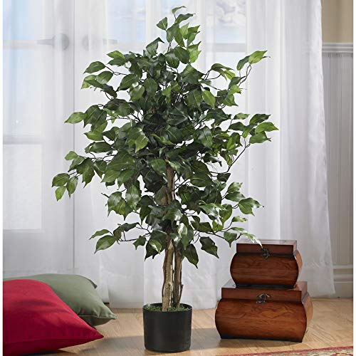 Product Image 4: Nearly Natural 3′ Ficus Silk Artificial Trees, 36in, Green