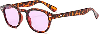 Retro Round Inspired Sunglasses With Rivets Tinted Lens UV400