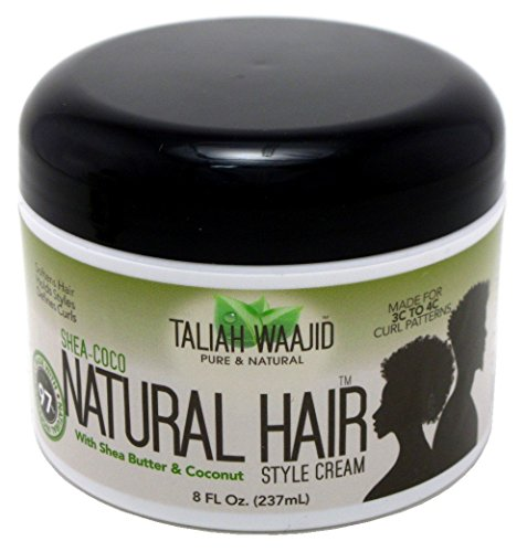 Taliah Waajid Shea-Coco Natural Hair Style Cream Jar, 8 Ounce