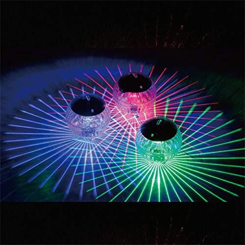 Harddo Schwimmendes Teich-Solarlicht, LED-Farbwechsel-Solargarten-Pool-Licht-hängendes Ball-Licht für Garten-Yard-Swimmingpool-Brunnen-Aquarium