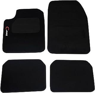Il Tappeto Auto SPRINT03302 Alfombrillas de Moqueta Antideslizantes para Coche Color Negro Borde Bicolor y Talonera Reforzada con Caucho