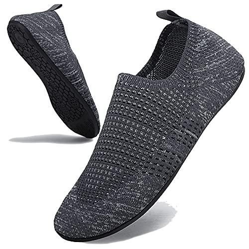 AX BOXING Pantoffels voor dames en heren, comfortabele lichte huisschoenen, flexibele pantoffels, platte slipvaste sokkenschoenen, yoga-slippers, uniseks, maat 36-47