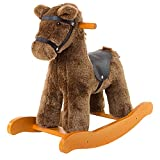 labebe Wooden Rocking Horse for Child 1-3 Year Old, Kid Ride On Animal Toy for Infant/Toddler Girl&Boy