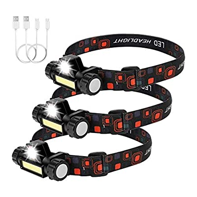 Amazon - 79% Off on 3 Packs Rechargeable Headlamp Flashlight 500 Lumens Super Bright…
