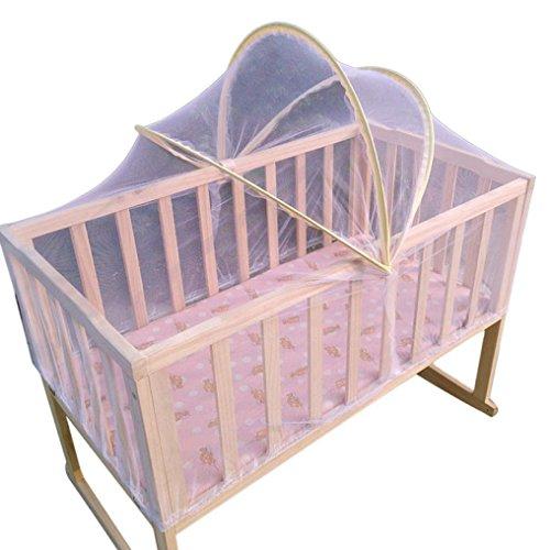 Ouneed® Bebe Literie Universel Solide Moustiquaire de Lit a la forme de l'arc de Bébé Toddler 100*60cm (Bleu)