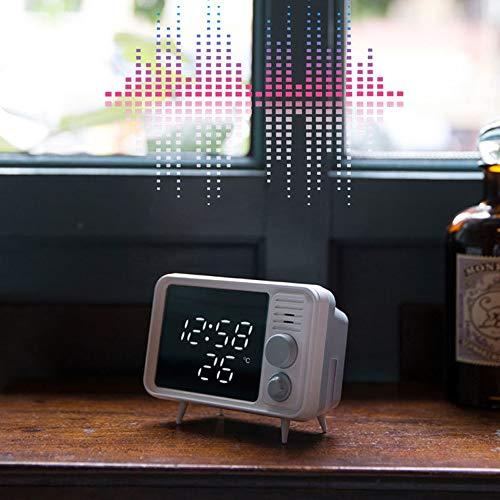 Kfhfhsdgsatd Table Lamp Retro TV Mirror Alarm Clock Multifunction, Table Lite Night LightsmSmart Digital Alarm Clock Bedroom Bedside Alarm Clock Desk Lamp, Portable LED Desk Lamp, Timing Table Lamp