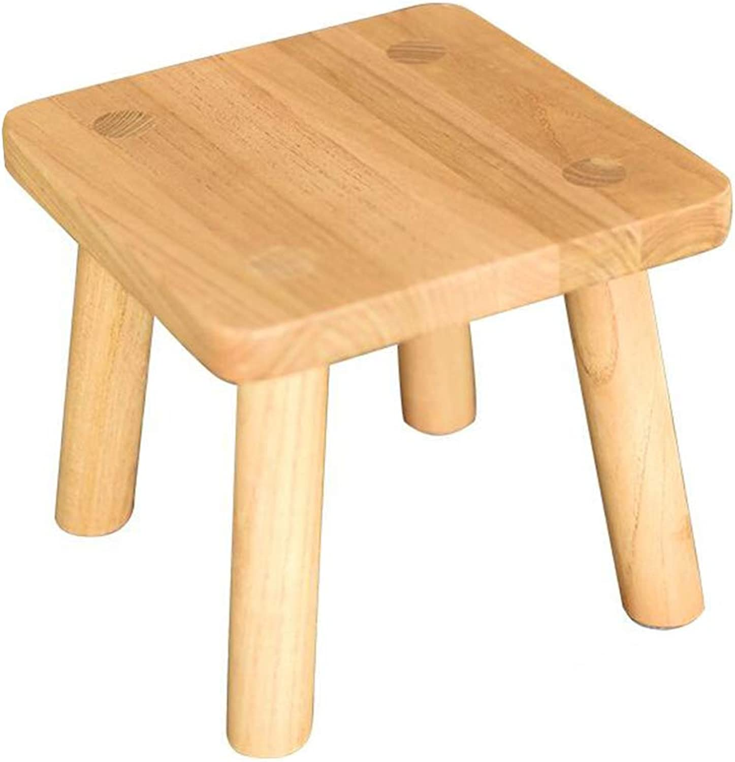 HQCC DLDL Solid Wood Small Round Stool Home Wood Low Stool Fashion shoes Bench (color   Natural)