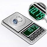 Digitale Schmuckwaage, Milligramm-Skala, Präzisions-Taschengewicht-Gewichts-Küchen-Gramm-Skala...