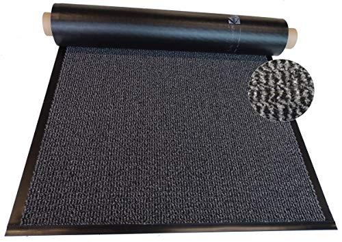 Mertex Schmutzfangläufer Meterware 90 cm grau-schwarz meliert (90 x 260 cm, Schnittkante mit Randprofil)