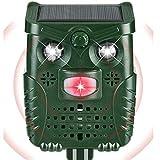 PewinGo Repelente De Gatos,Ahuyentador Repelente Ultrasónico Para Animales,LED,Carga Solar y USB, Exterior