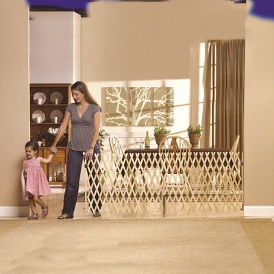 "GMI Keepsafe Gate, Fits Openings 40""- 108""(W) and 32""(H)-Made in USA! Top of Stairs Certified! Fits one car Garage!! Open Concepts! Decks! Collapses to 25.5""-Smallest in The Industry!"
